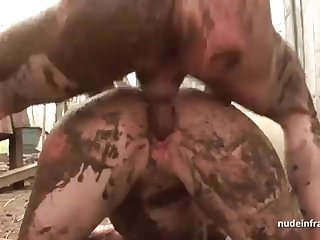 Shrunken inexperienced brown-haired rectal banged n spunked outdoor in a filthy french work on