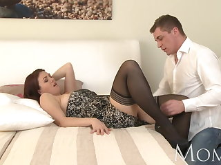 MOM Horny MILF is so grateful beside finally have a man in her b