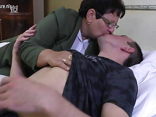 Taboo mature MOM fucks say no to young little shaver
