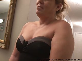 Mexican grandmother gilf with large ass attempts broadly for assfuck inexperienced pornography