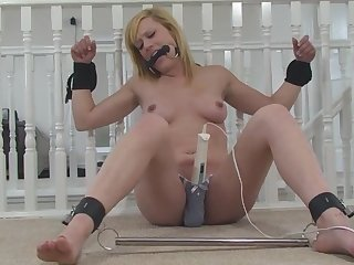 Affianced beauteous MILF Axa left with a vibrator in her panties