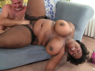 Big ass ebony wife fucked hard hard by a elder washed out man