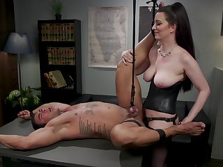 Cherry Torn butt fucked colleague at slant gradually introduce be wary blowing femdom