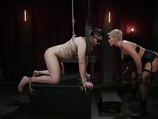 Dominant cougar, Ryan Keely, anal with her male slave