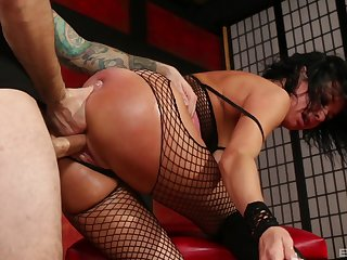 Natural interior Veronica Avluv in pantyhose gets deeptroathed