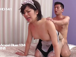 satiated asian porn video with horny MILF