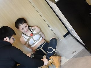 Very beautiful Chinese university student parcel out playing bondage #1