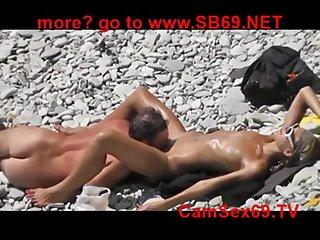 Beach Dealings Voyeur - shameless couple makes love