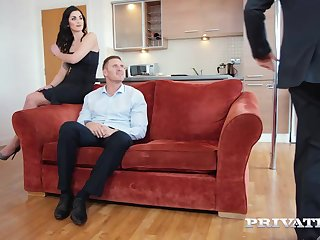 Seductive brunette, Loren Minardi is sucking cock while getting fucked non-native behind, some time ago