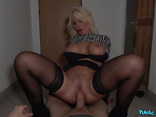 Blonde MILF Tiffany Rousso gets talked into dirty deeds