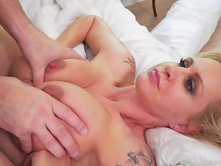 Chubby tits Mommy fucked hard to ass