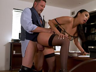 Sexy Vicki Chase mixes near her week with hot office screwing