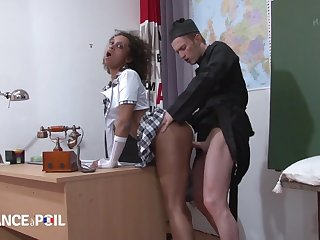 Sooty Catholic Schoolgirl Punished