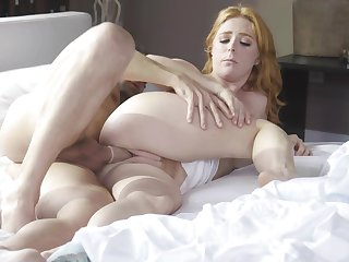 Hot redhead shows suitable blowjob skills contribute to a good fuck