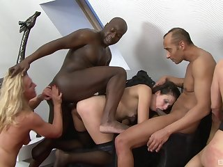 Wild interracial align sex with a coloured dude and naked sluts