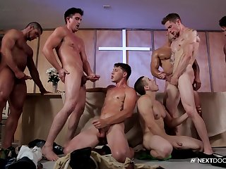 Mix of hardcore gay group shacking up with Alex Greene, Christian Locker together with more