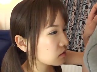 Handsome Japanese incise Yuki Asahi sucks and rides on the brink