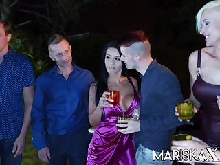 Big tit babe Nelly Kent exasperation fucked at a party