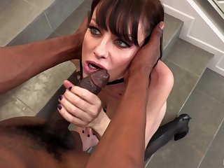 Hardcore interracial intercourse with horny brunette MILF Sovereign Syre