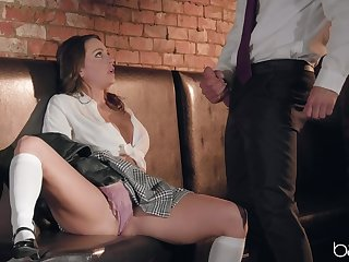 Bachelor girl Mac moans loud while being penetrated by a heavy cock